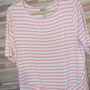Chico's Striped Tie Front Tee 3